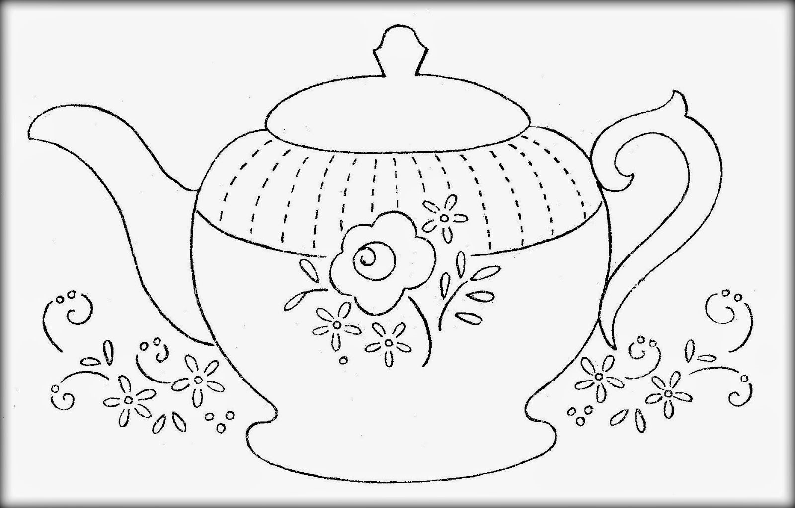 Free Download Teapot Coloring Page