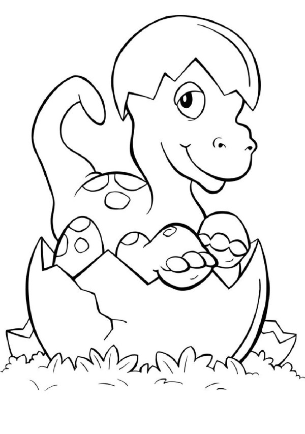 baby dinosaur coloring pages # 55