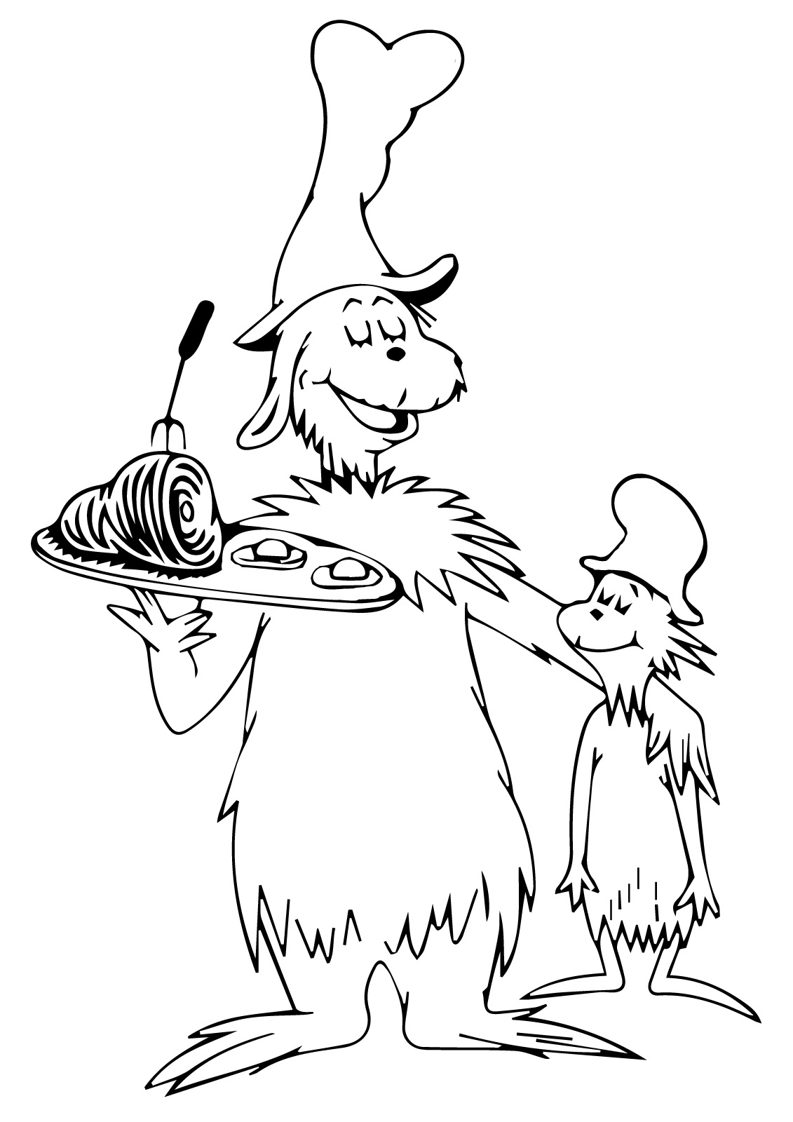 Green Eggs And Ham Coloring Pages