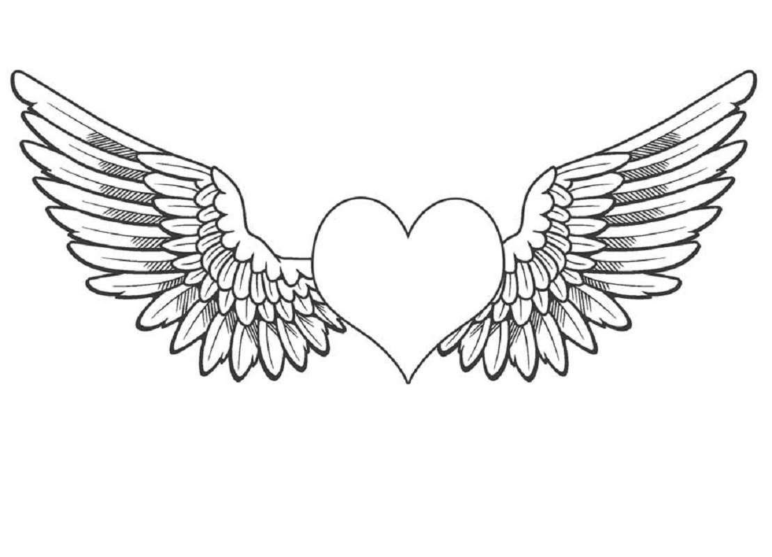 Angel Wings Coloring Pages For Media