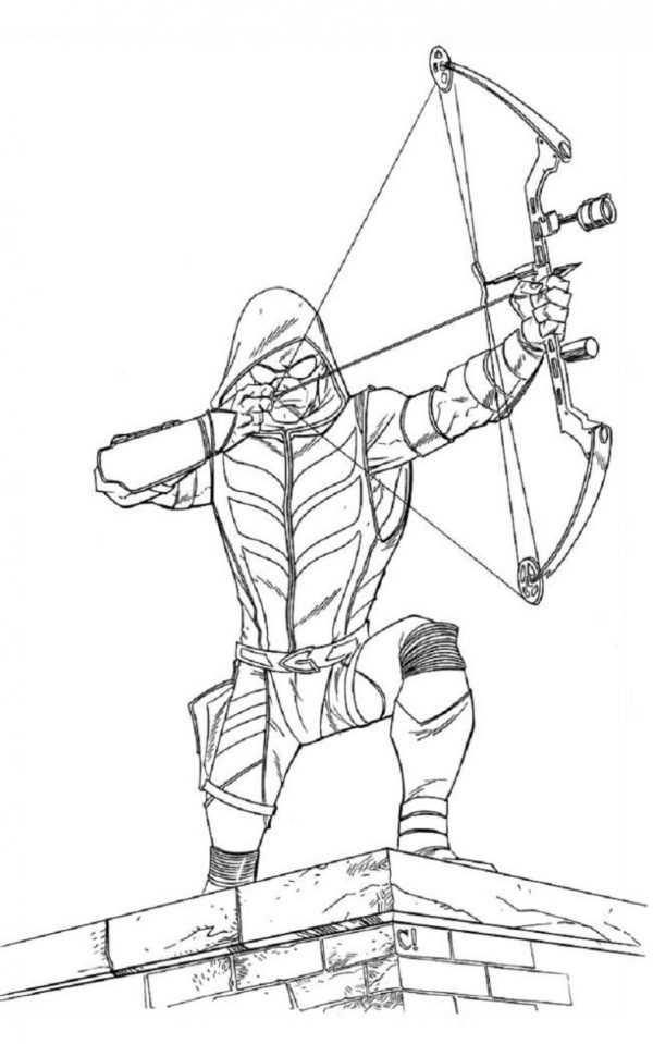 green arrow coloring pages # 26