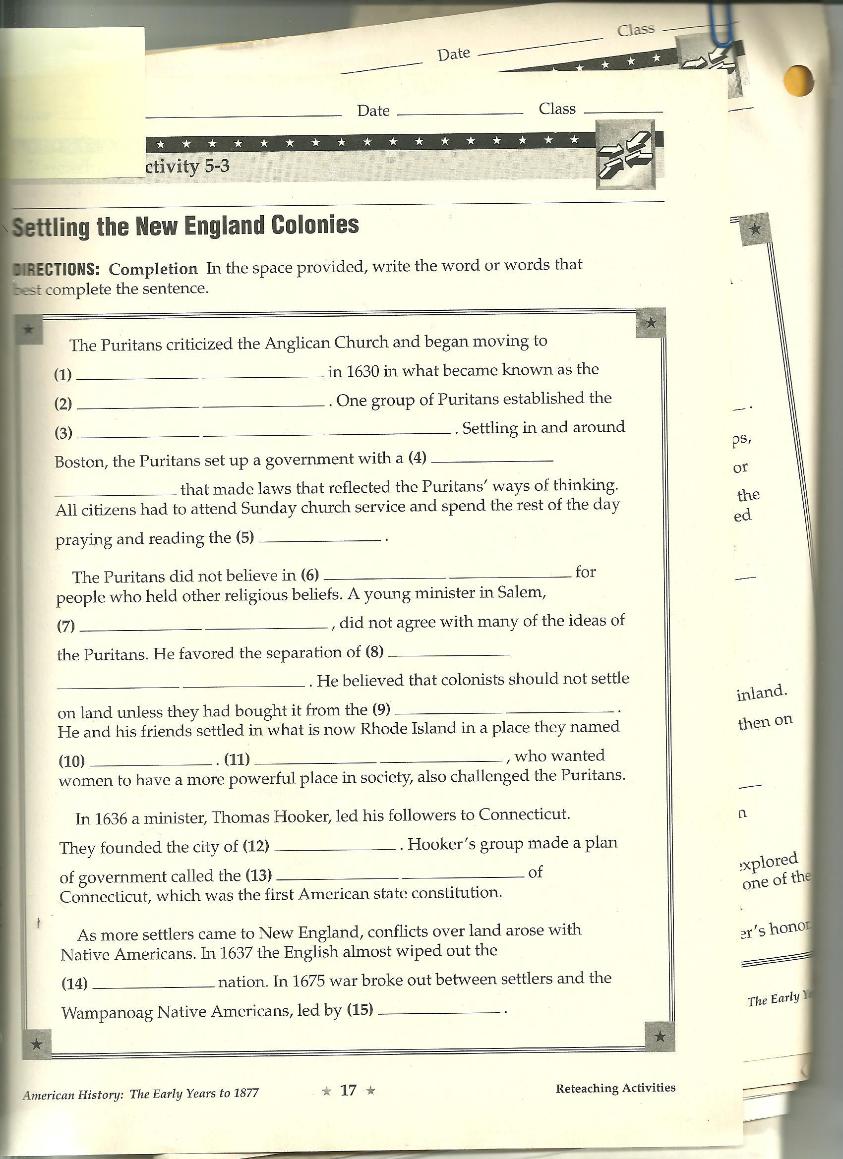 Bestseller American History Guided Activity Answer Key