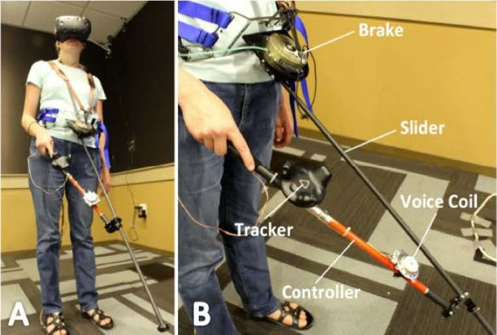 Microsoft Cantroller example of usage for visually impaired in virtual reality.