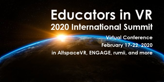 Educators in VR - International Summit Template - Altspace world art