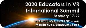 Educators in VR International Summit logo.