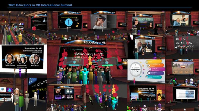 Behind the Scenes - 2020 Educators in VR International Conference virtual conference - collage