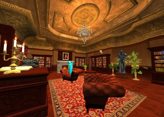 Educators in VR Rental World - Victorian Living Room
