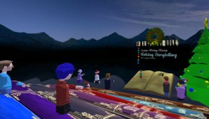 Creative Writing Holiday Storytelling event in AltspaceVR.