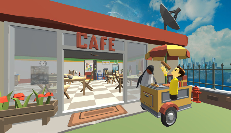 Michael McDonald - English lessons in a cafe in AltspaceVR.