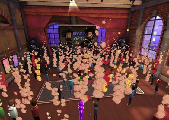 Reggie Watts concert in AltspaceVR 2020.