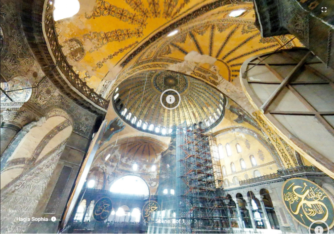 Hagia Sophia Mosque with Tourists 3D Tour