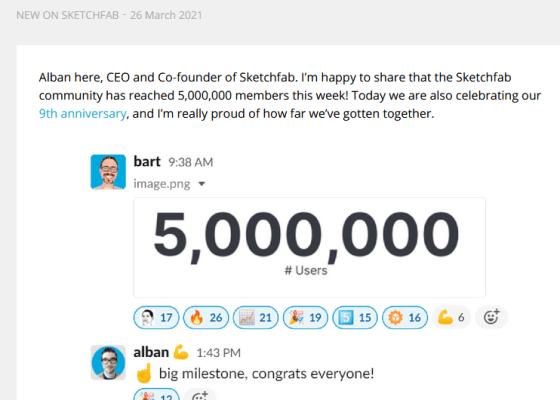 Sketchfab 5 million members