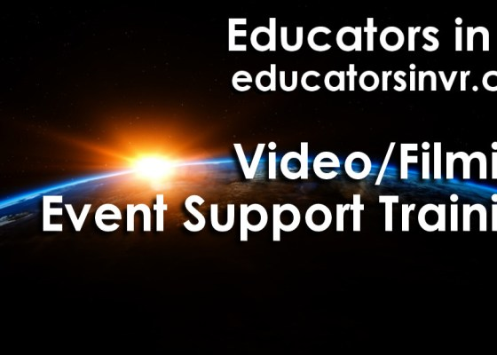 Educators in VR Video Film Event Support Training Announcement Image.