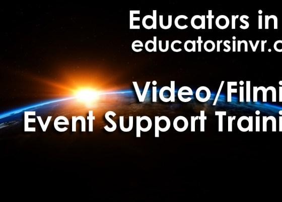 Educators in VR Video Film Event Support Training Announcement Image.