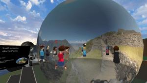 EDVR Virtual Schooling Team - Around the World event exploring landmark in photospheres in AltspaceVR.