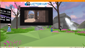 Virtual Schooling event in AltspaceVR with guests from VictoryXR.