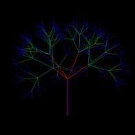 arbol3d 300 4 5 0.6 4 ramas, 5 niveles
