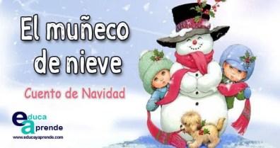 Cuento de navidad muñeco de nieve