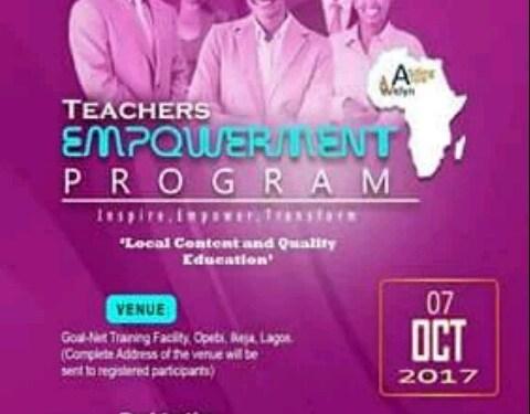 Teachers invited to attend theAVwE Teachers Empowerment Program