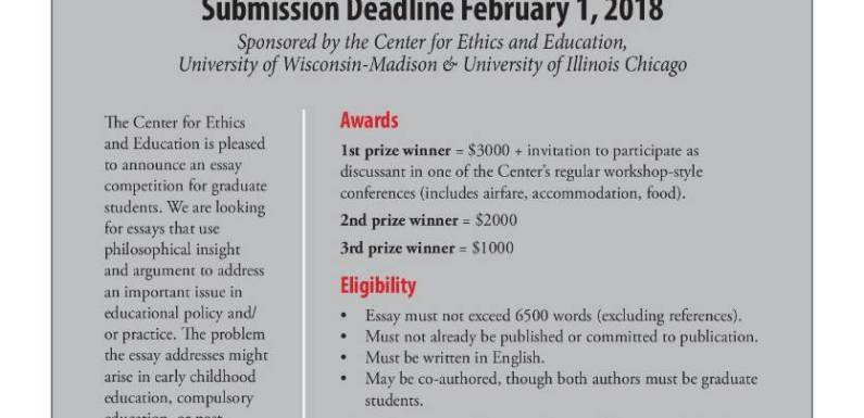 Wisconsin Center for Ethics and Education Essay Prize Competition
