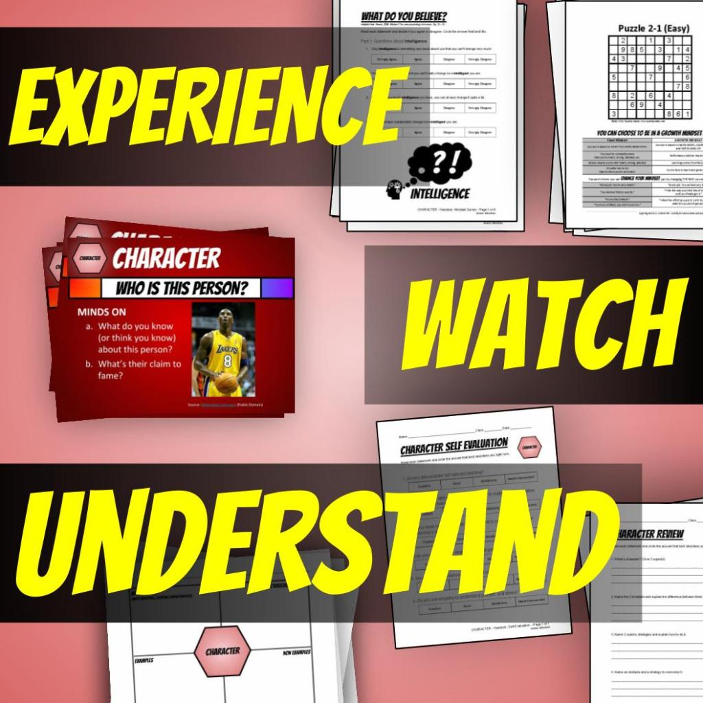 Character Education Lesson Plans - 1. Experience, 2. Watch, 3. Understand