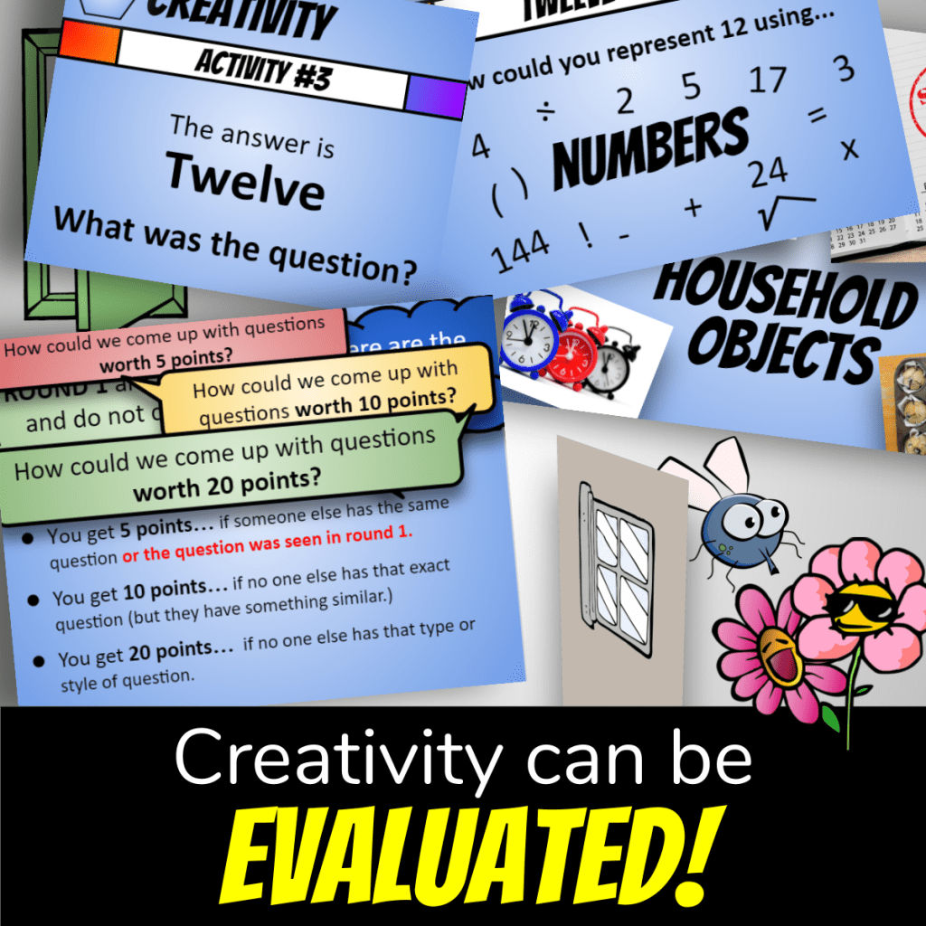 creative lesson plan cover showing sample slides from the lesson and the fly outside with the flowers.