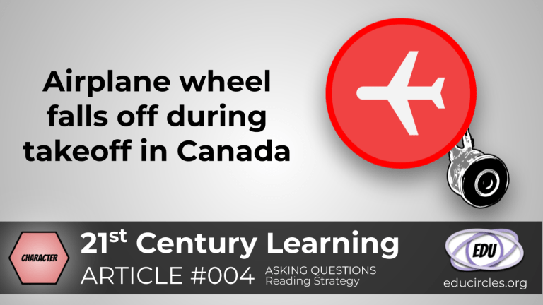 Airplane wheel falls off during takeoff in Canada (Reading Response Article 004)