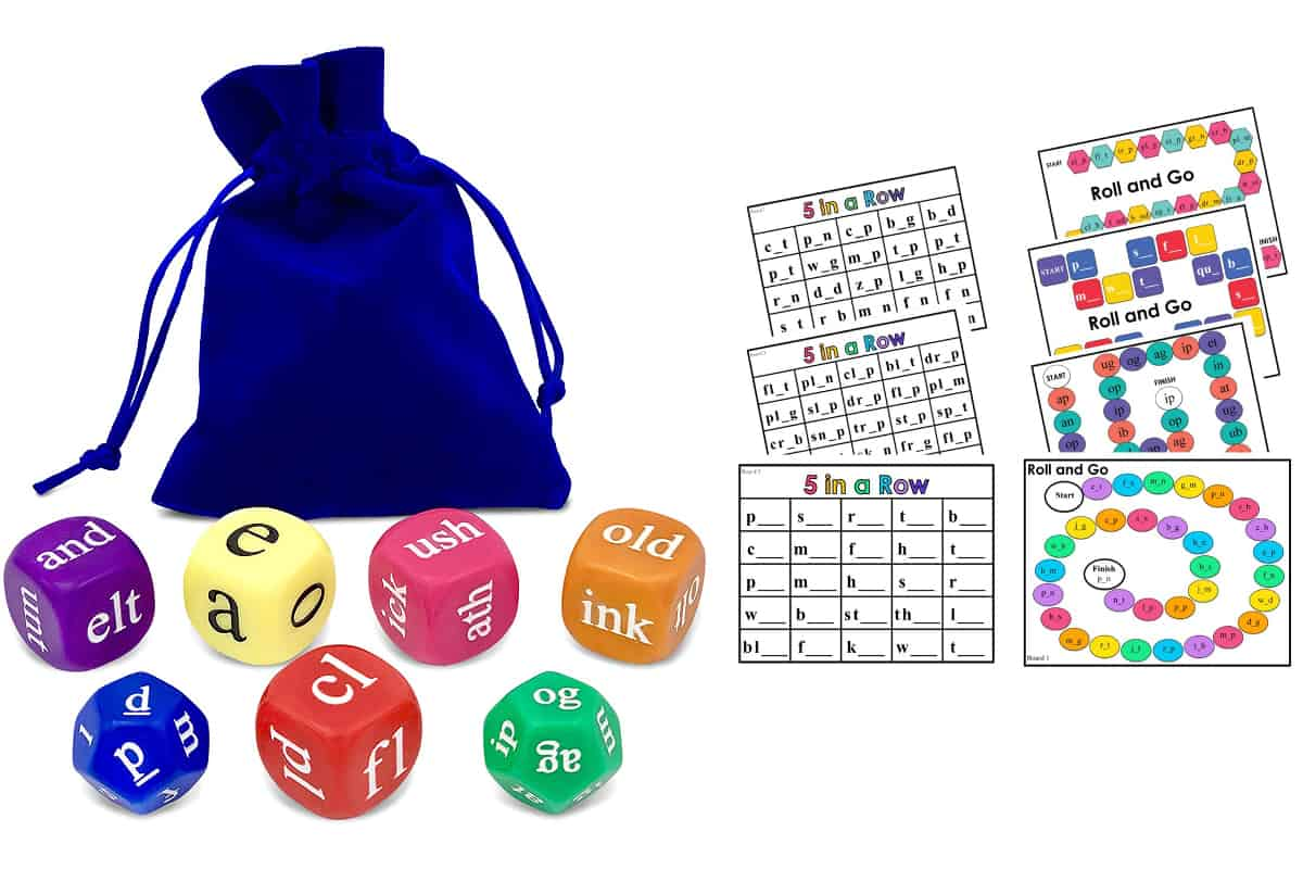 6 Rhyme Dice Amp Rods Games For Preschoolers And Primary School