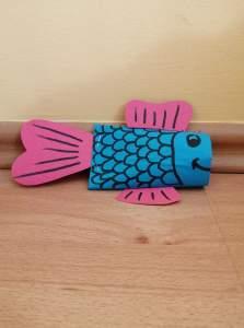 Ryba – praca plastyczna z wykorzystaniem rolki