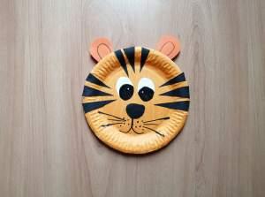 Tygrys- praca plastyczna z wykorzystaniem talerzyka papierowego