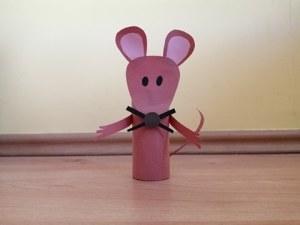 Mysz - praca plastyczna z wykorzystaniem rolki