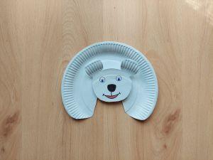 Niedźwiedź - praca plastyczna z wykorzystaniem talerzyka papierowego