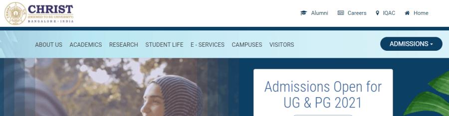 Christ University Application Form 2021