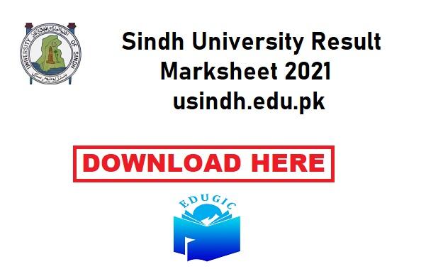Sindh University Result Marksheet 2021