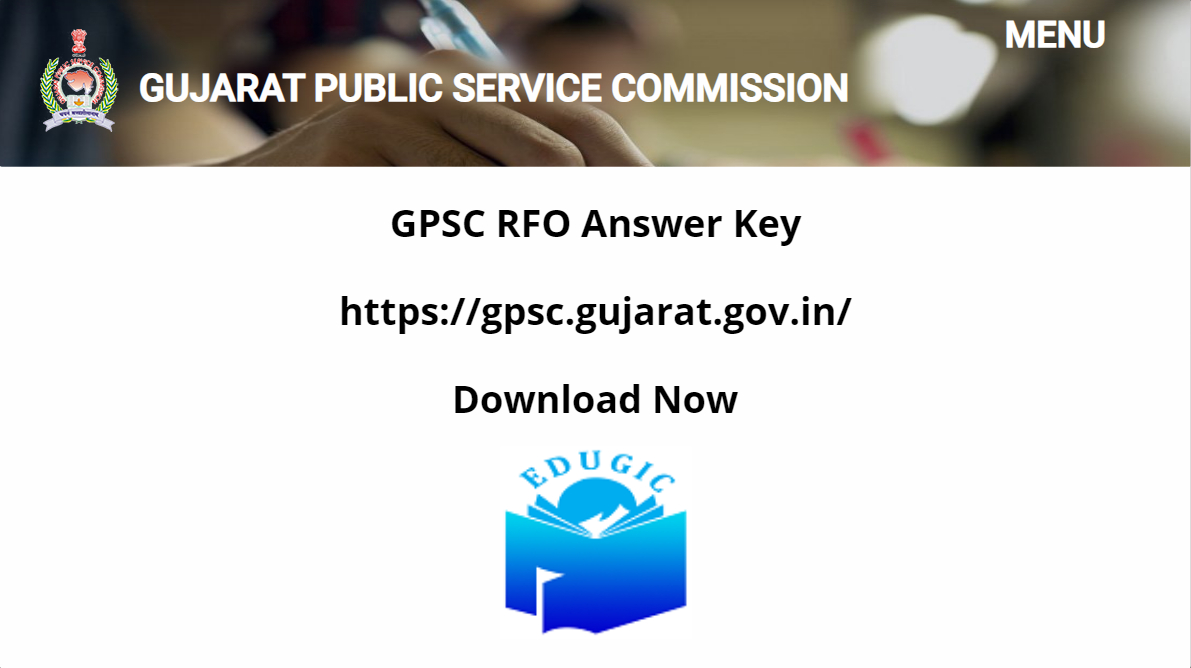 GPSC RFO Answer Key 2021