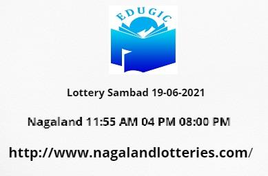 Lottery Sambad 19-06-2021