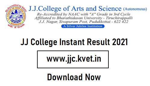 JJ College Instant Result 2021