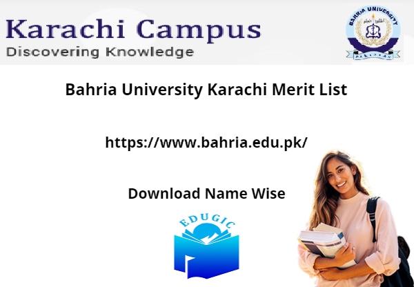 Bahria University Karachi Merit List 2021