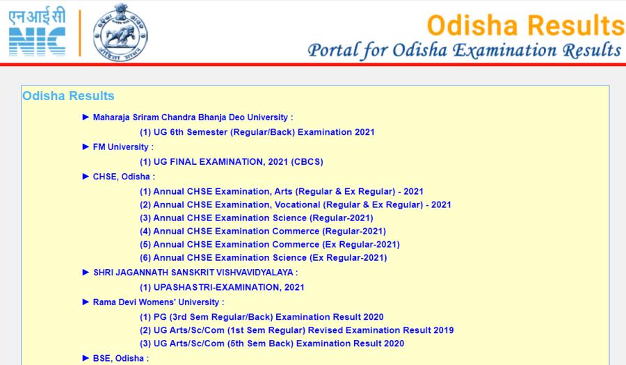 North Orissa University Result 2021