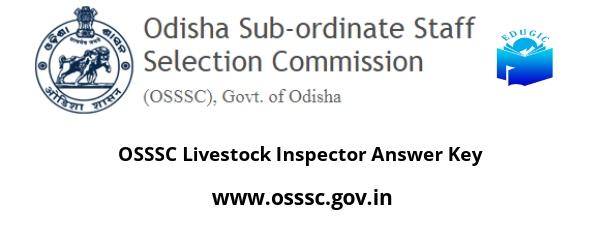 OSSSC Livestock Inspector Answer Key