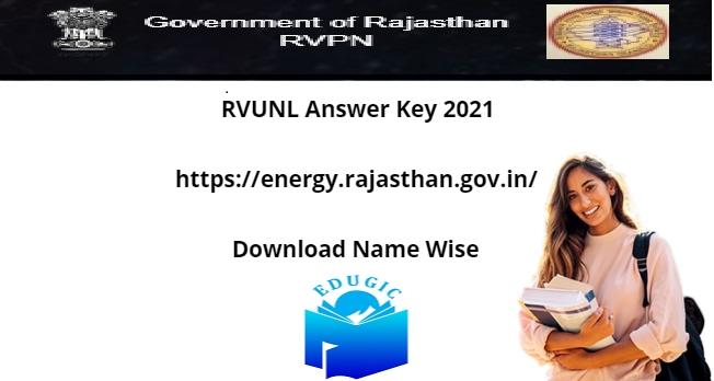 RVUNL Answer Key 2021