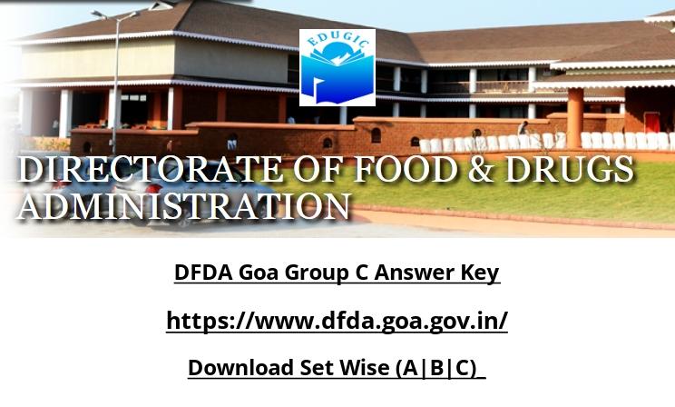DFDA Goa Group C Answer Key
