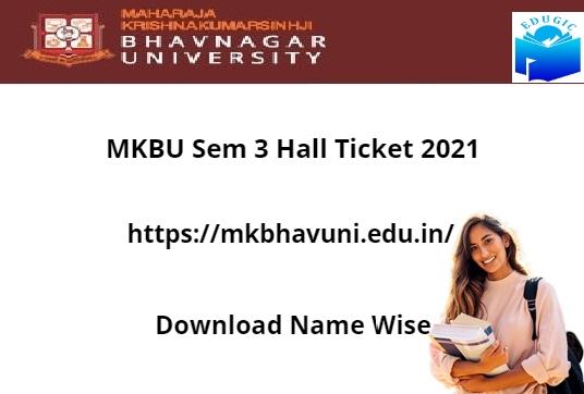 MKBU Sem 3 Hall Ticket 2021