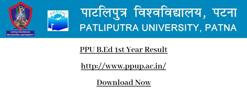 PPU B.Ed 1st Year Result
