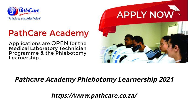 Pathcare Academy Phlebotomy Learnership 2021