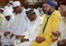 What's On Bukola Saraki's Mind As He Gazes On Buhari Like That During Jumaat Prayer