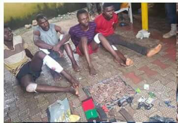 Police arrested suspects
