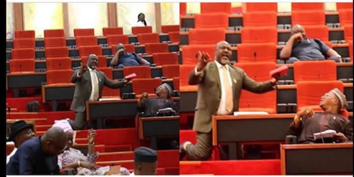 Senator Dino Melaye begs for Rice for Kogi State Civil servants