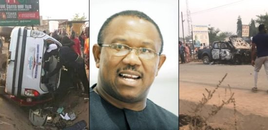 Image result for Peter Obi Merely Escapes Death As APC, PDP Clash (Video)