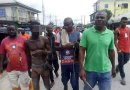 Man Who Stole Rubber Slippers In Bayelsa Caught, Beaten & Paraded (Photos)